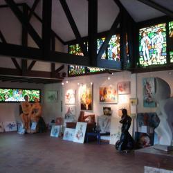 Une partie de mes œuvres à  ma galerie de Port Couzage à Chasteaux